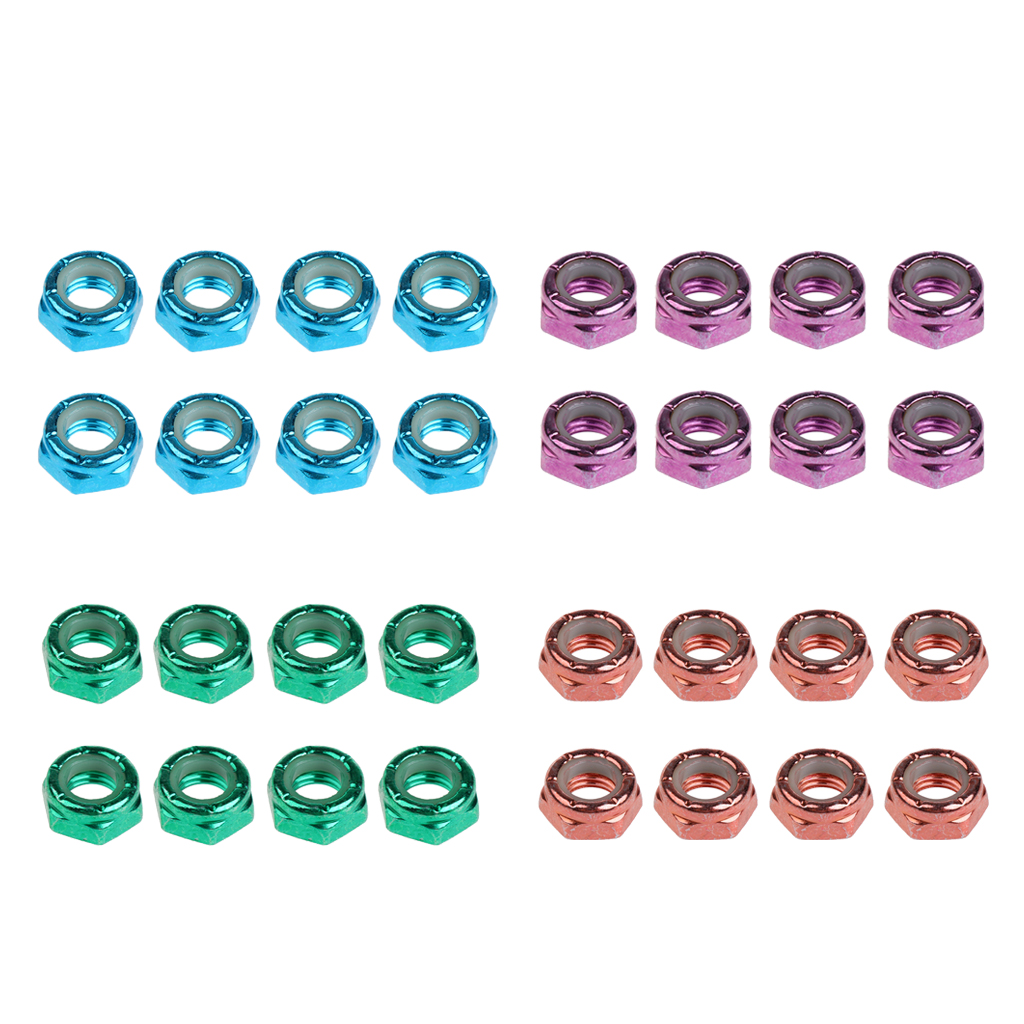 8pcs Skateboard Truck Wheel Axle Screw Nuts Longboard Hardware Accessories For Men Women Outdoor Skateboarding