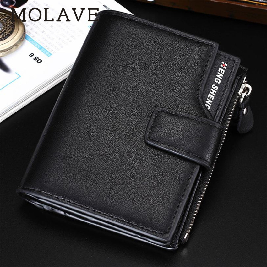 MOLAVE wallets wallet male Solid card holder hasp Men Fashion Multi-function Business PU Leather Wallet Wallets Purse Feb12 2015 hot sale fashion men wallets quality soft pu leather wallet black coffee casual business card holder purse free shipping