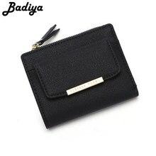 9805b664078 Cremallera Chic Ladies Bifold Wallet tarjeta de crédito sólido cuero Color  PU corto monedero carteras para