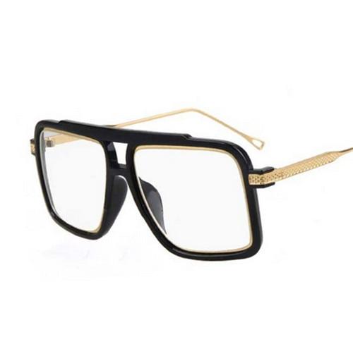 9e15e770d0 FONEX Oversized Men Fashion Square Sunglasses Stylish Metal Frame Man  Glasses Vintage Big Brown Eyewear for Women Retro