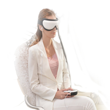 English Menu Air pressure Eye massager with MP3 download Dispel eye bags  infrared heat eye care for women and men free shipping
