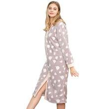 fe7539050667f4 Hohe Qualität nachthemd Flanell Mit Kapuze Lange Hülse Erwachsene  Nachtwäsche Lounge tragen Weiche Bequeme Pyjamas Schöne