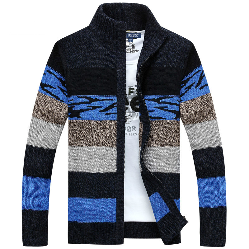 2019 Men's Clothing Men's Knitted Sweaters Cardigans Collar Winter Wool Sweater Fashion Cardigans Male Sweaters Coat Brand