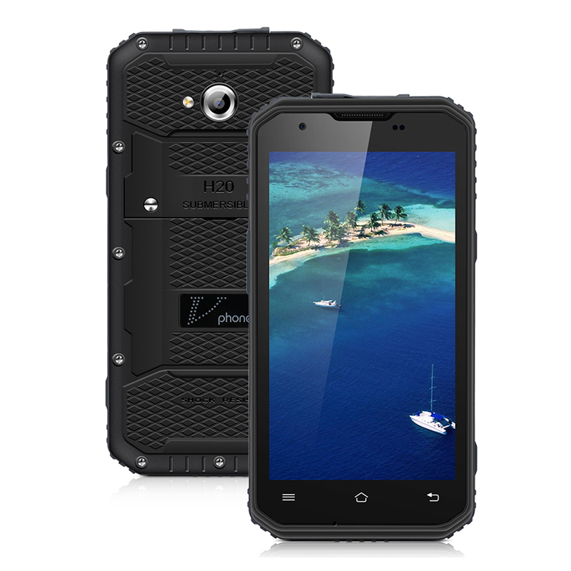 "Vphone NO.1 M3 IP68 Waterproof MTK6735 Quad Core Android 5.1 OS 5.0"" 2G RAM 16G ROM 13MP 4500mAh Rugged Smartphone"