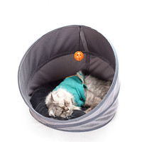 Folding Tent Cat Cave Four Seasons Pet Cave Dog Cave Cat Tunnel cat house outdoor kennel cave tent dogs mat litter