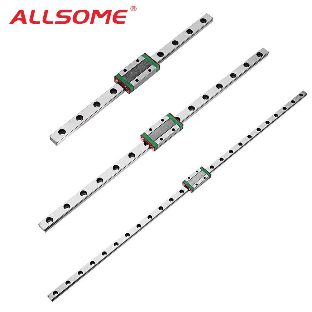 Миниатюрная линейная направляющая ALLSOME MGN7 MGN12 MGN15 MGN9 линейная направляющая с линейным рельсовым блоком CNC инструмент 300 350 400 450 500 мм