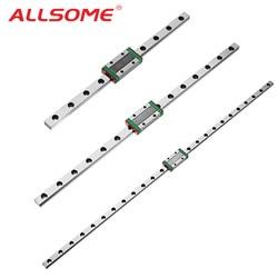 ALLSOME MGN7 MGN12 MGN15 MGN9 miniaturowa prowadnica liniowa prowadnica liniowa z liniowym blok prowadzący narzędzie cnc 300 350 400 450 500mm w Prowadnice liniowe od Majsterkowanie na