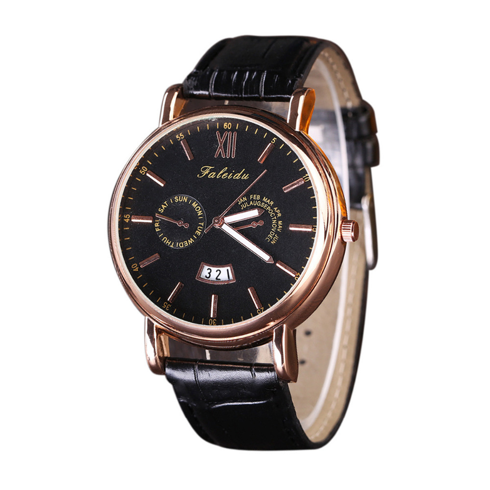 Watch Men Relogio Masculino Top Brand Luxury Military Army Business Retro Design Date Quartz PU Leather