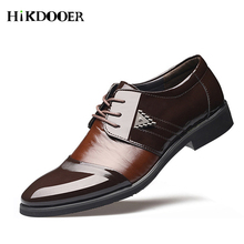 цены New Arrival Fashion Men Leather Shoes Party and Wedding Men Dress Shoes Formal Pointed Toe Male Casual Oxfords Shoes