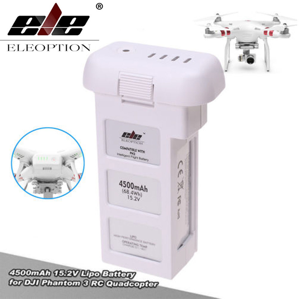 ELEOPTION 15.2V 4500mAh 4S Intelligent Flight Battery For DJI Phantom 3 & Phantom 3 Standard цена