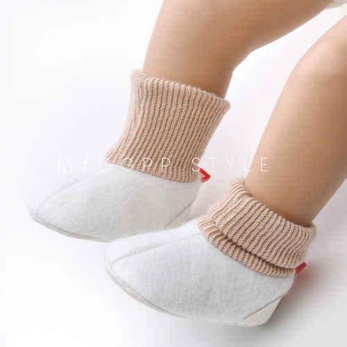 Pasgeboren Baby Meisjes Jongens Winter Warm Slippers Peuter Infant Soft Home Klim Zool Schoenen 0-18 M
