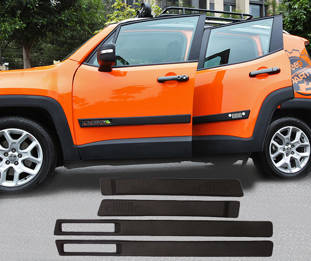 Fit JEEP Renegade 2015 2016 2017 2018 Side Nerf Bar Plate Protector Door Sill Trim