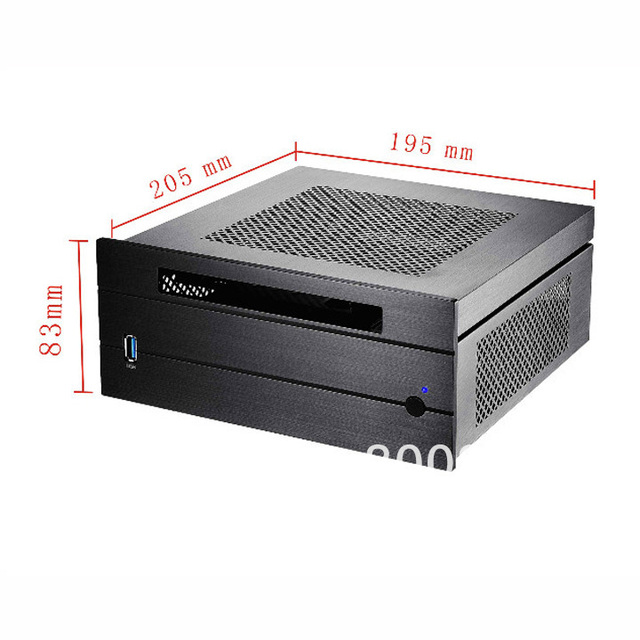 Aluminum MINI ITX chassis with a laptop optical drive USB3.0 ultra-small chassis HTPC chassis