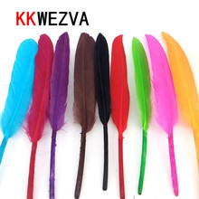 20 Pcs/Lot Brght/Dark Colors Natural Turkey Biot Quills Feathers Fly Tying Materials Full Quill Turkey Wing Feather Fly Fishing перья индюка hareline turkey biot quills