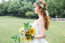 Wedding Flowers Bride Bouquet Artificial  Bouquets De Mariage Sunflower photography prop
