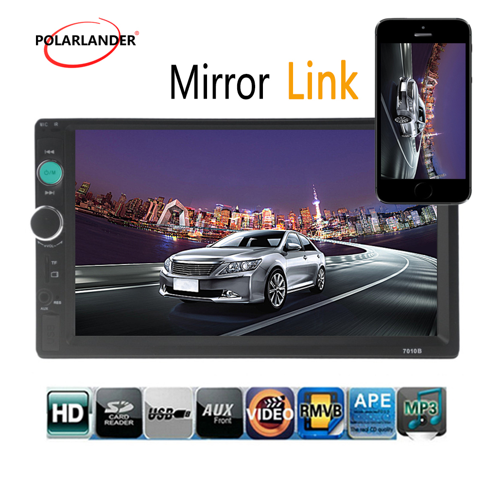 7 Inch 2 DIN Car Radio MP5 MP4 Player Touch Screen Bluetooth HD Rear font b