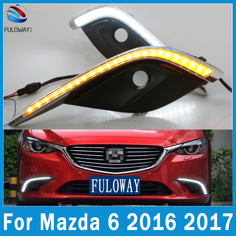 LED DRL Daytime Running Lights Fog Lamp Case for Mazda 6 Atenza Mazda6 External Day Light DRL Accessories White 12V Car-styling