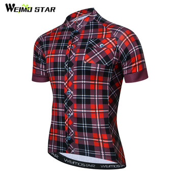 Weimostar Pro Team Grid Cycling Jersey Men Summer Short Sleeve Bicycle Cycling Clothing Quick Dry MTB Bike Jersey Ropa Ciclismo santic triathlon cycling jersey men 2018 pro team quick dry bike jersey cycling clothing swimming running bicycle skinsuit wear