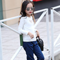 Girls T-Shirt NEW Autumn Children Casual All-match Love Black and White Long Sleeved T-Shirt Kids Clothing Cotton