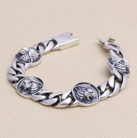 Tiger head bangle bracelet Sterling 925 silver Jewelry for men