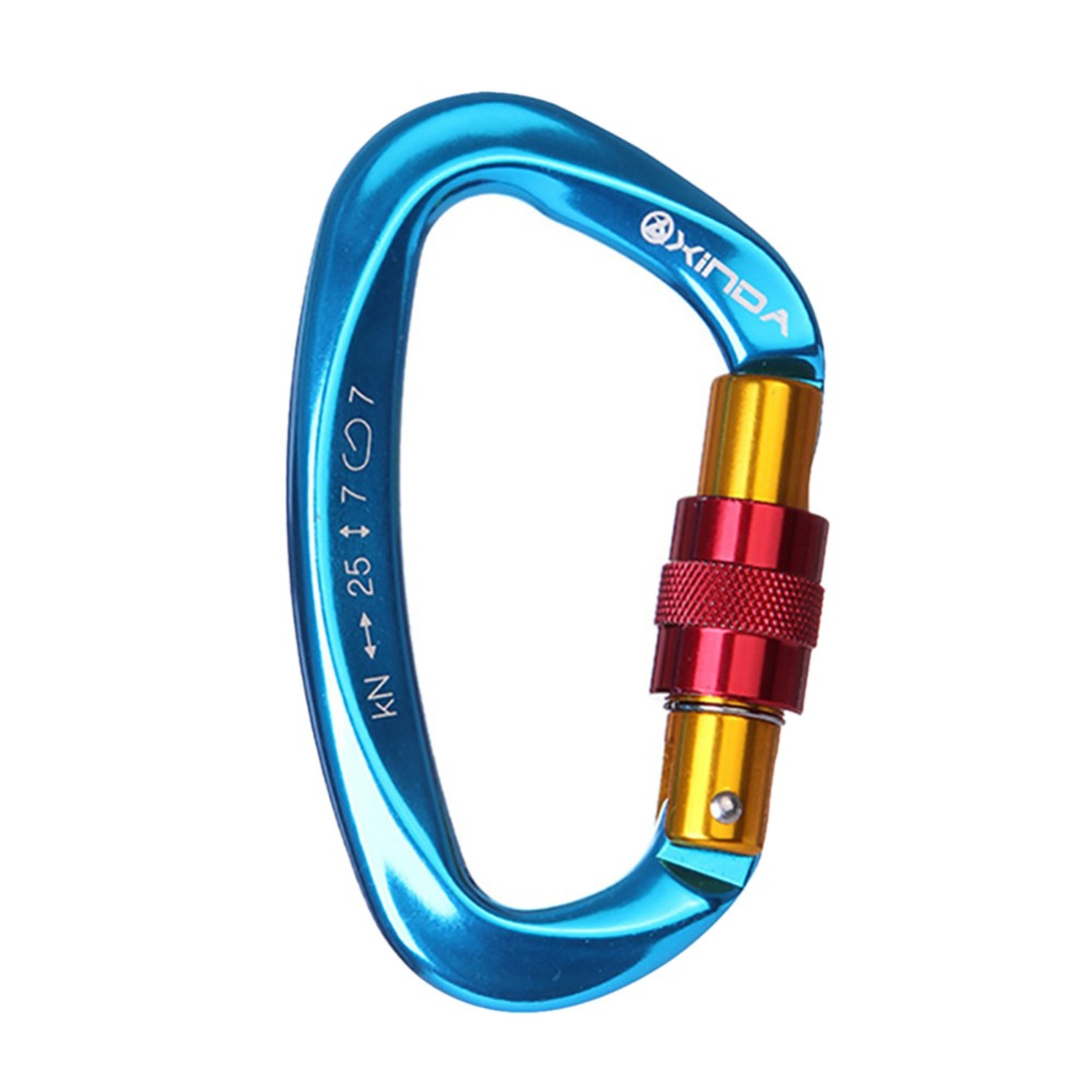 25KN Professional Carabiner D Shape Climbing buckle Security Safety Master Lock Outdoor Rock Climbing Buckle Equipment 25KN Professional Carabiner D Shape Climbing buckle Security Safety Master Lock Outdoor Rock Climbing Buckle Equipment
