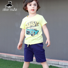 Boys Ladies Units Summer season Kids Clothes Fits Automotive Printed Brief Sleeve Youngsters Garments Set T Shirt+Trousers 2pcs MFS-X8020