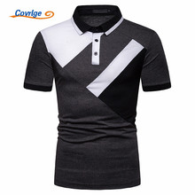 Covrlge Men Polo Shirt Summer Luxury Breathable Classic Casual Tops Short Sleeves Tee Brands Camisa Masculina MTP114