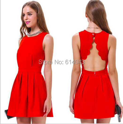 Aliexpress.com : Buy Competitive Price O neck A line Red Spring ...