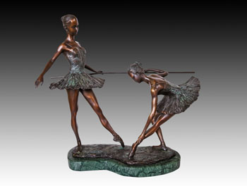 Bronze  Ballet  statues art  collection horizontal bar debut  Ballet studio decoration  birthday present JD-031