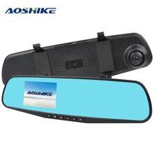 AOSHIKE 3.5 بوصة تعمل باللمس HD 720 P سيارة مرآة الرؤية الخلفية مسجل سجل واحد عرض سيارة DVR كاميرا مركبة TFT LCD مع GPS