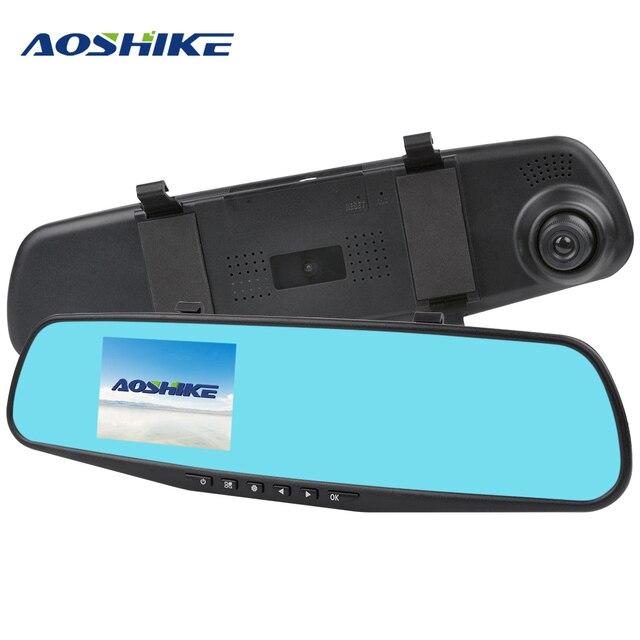 AOSHIKE 3.5 Pouces Tactile HD 720 P Voiture Rétroviseur Enregistreur Enregistrement Unique Affichage De Voiture DVR Véhicule Caméra TFT LCD avec GPS