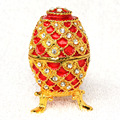 New arrival Russian faberge Red egg jeweled jewelry box Easter egg bejeweled trinket box metal Box Gift for Her Christmas gifts