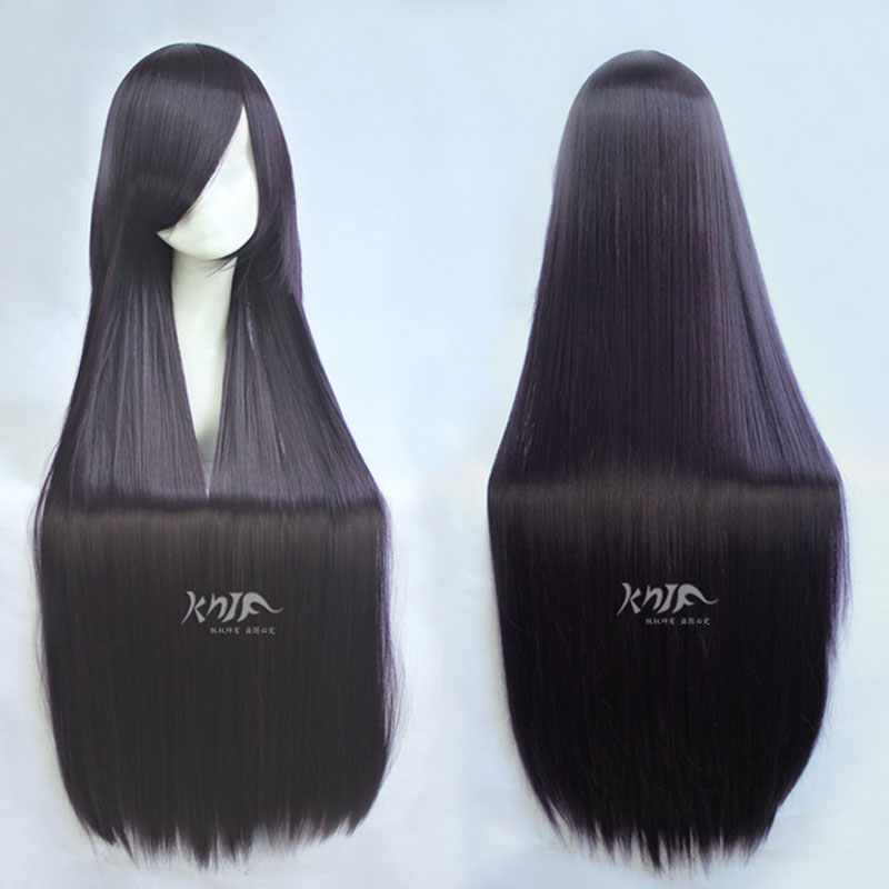 Gokou Ruri 100cm Purple Black Mix Long Straight Synthetic Hair Cosplay Costume Wigs + Wig Cap