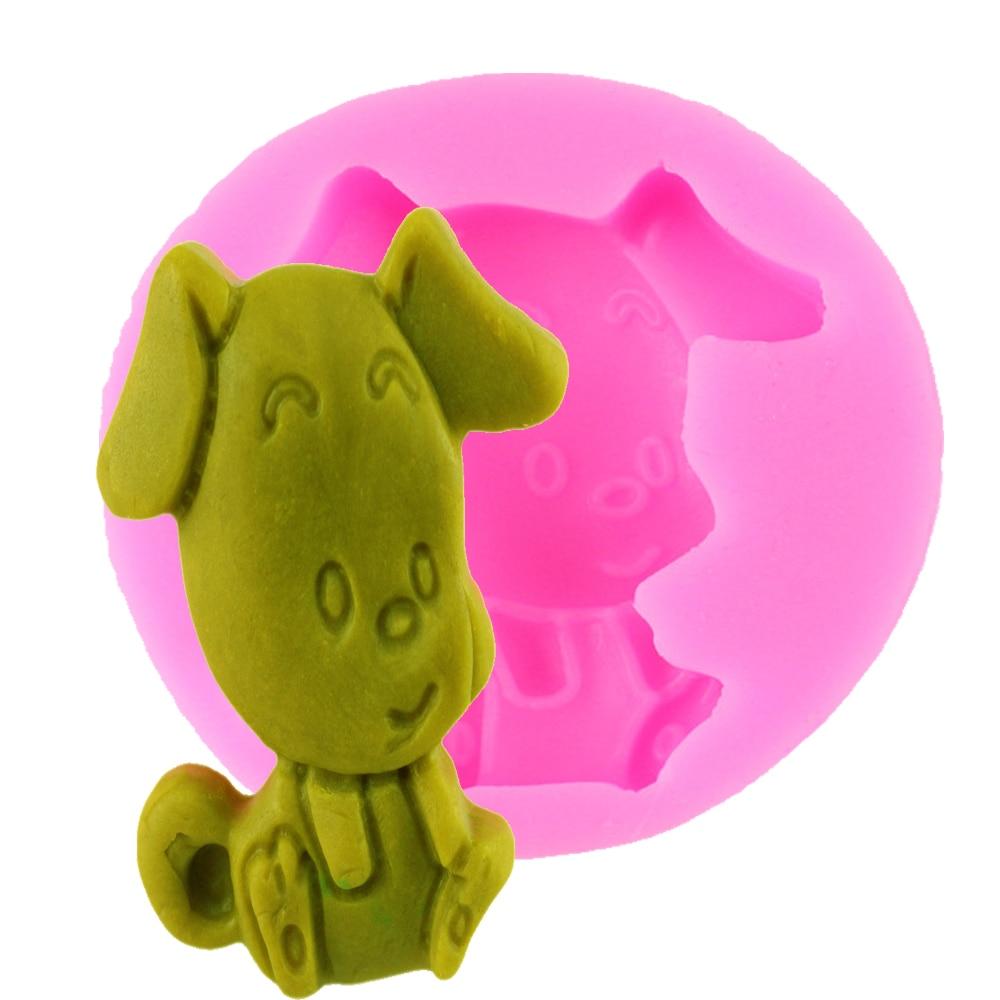 f diy unids perro molde de silicona forma del molde de pasta de azcar del molde de decoracin de pasteles de