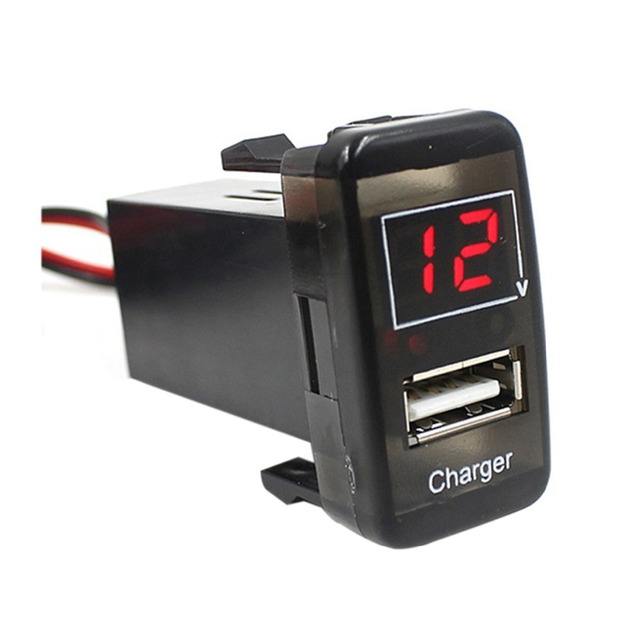 for toyota usb charger with voltmeter tester 1 9ft wiring and fuse rh aliexpress com usb power cable wiring usb power wiring diagram