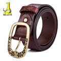 [MILUOTA] 2015 Luxury belt women genuine leather belts for women fashion wide belt brand cinturones hombre tactical LD5955