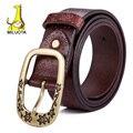 [ MILUOTA ] 2015 correa de lujo mujeres cuero genuino cinturones de mujer moda cinturón ancho marca cinturones hombre táctico LD5955