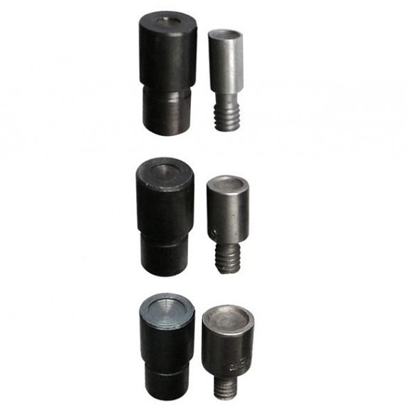 3 Dies Kit For Double Cap Dot Rivets For Hand Press,leather Hand Press Size For 6 7 9 Mm