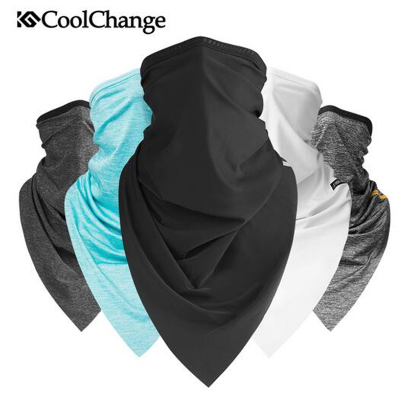 CoolChange Bike Triangle Headband Scarf Summer Outdoor Sports Scarf Cycling Bandana Headwear Ride Neck Mask Bicycle Equipment