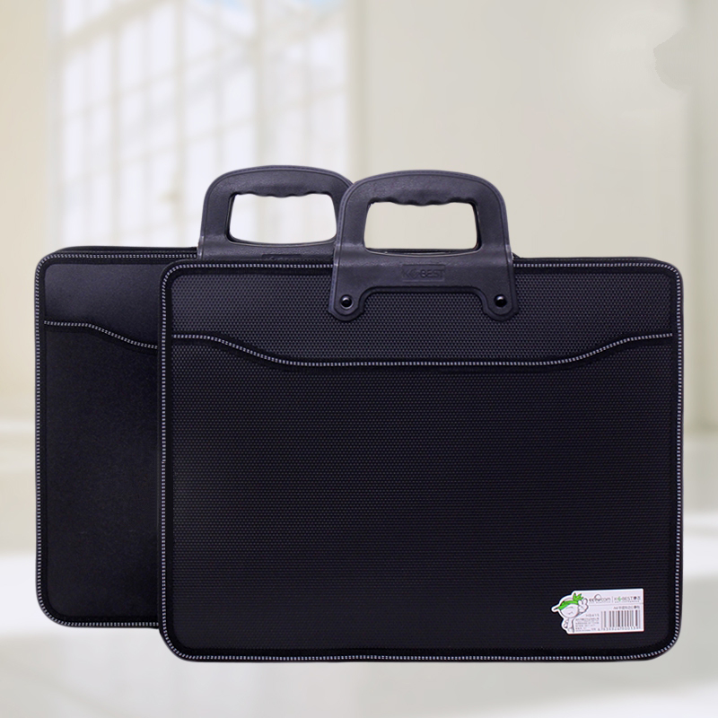 Handle Briefcase Oxford Fabric Office School Meetting Document Expanding Storage Organizer Holder A4 File Folder Case