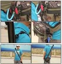 Waterproof Multifunctional Fishing Bag Foldable Fishing Rod Tackle Bag Waist Pack Messenger Bag