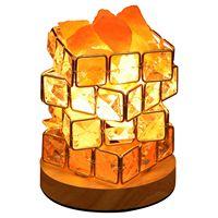 GYTB Himalayan Salt Lamp,Natural Hymalain Salt Rock in Crystal Basket with Dimmer Switch,UL Listed Cord &Wood Base US Plug
