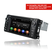 1 Din Android Car DVD Player for Chrysler 300C Sebring / Jeep Wrangler Compass Grand Cherokee 2005~2010 Autoradio Stereo