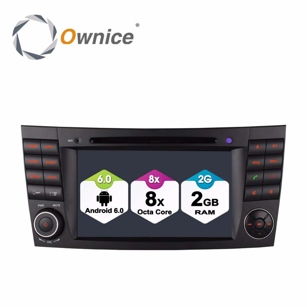 1024 600 Octa Core Android 6 0 2GB RAM Car DVD Player for Mercedes Benz E