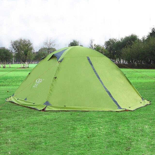 2017 New Large C&ing Tent 2 Person Double Layer Two Door Rain Proof Tents Winter Spring  sc 1 st  AliExpress.com & 2017 New Large Camping Tent 2 Person Double Layer Two Door Rain ...