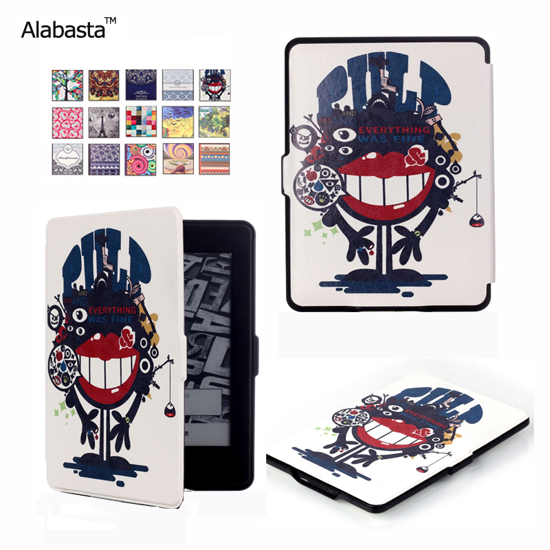 Alabasta For capa amazon kindle paperwhite 1/2/3 case cover Ultra Slim Case for Tablet 6inch Shell With Sleep&WakeUp with stylus pu leather ebook case for kindle paperwhite paper white 1 2 3 2015 ultra slim hard shell flip cover crazy horse lines wake sleep