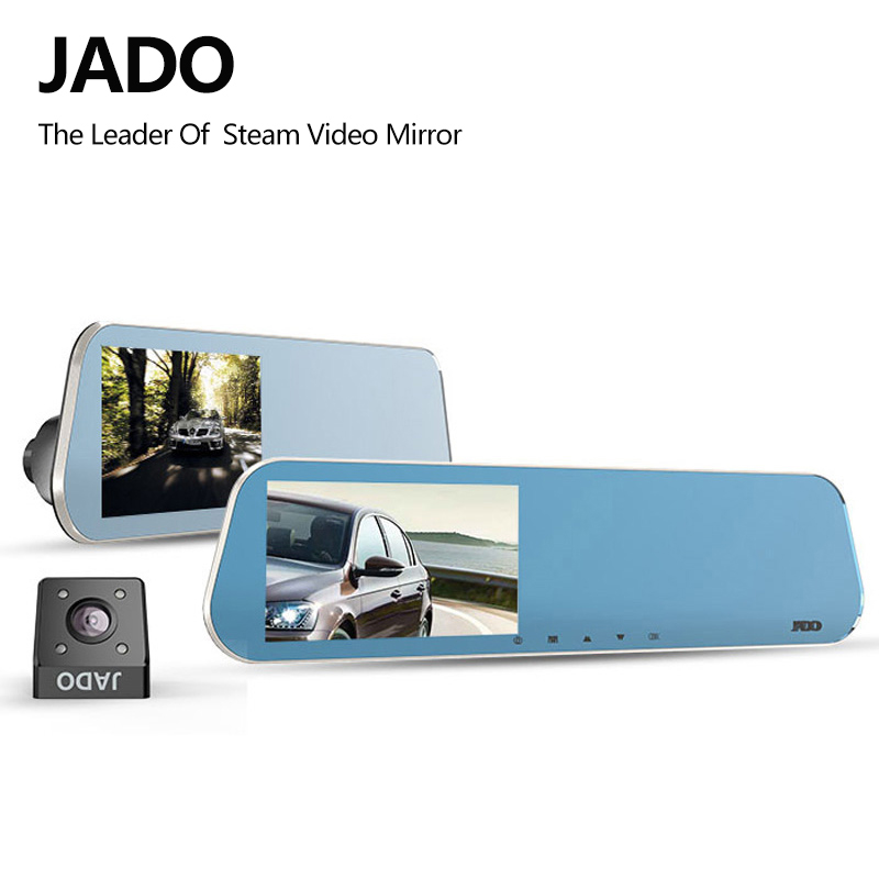 JADO D600 Car Dvr 4.3 LCD Screen Full HD 1080P Car Dvrs Rearview Mirror Dash cam Parking monitoring Registrar Video Recorder дефлектор капота autofamily sim темный hyndai elantra 2007 2011 nld shyela0712