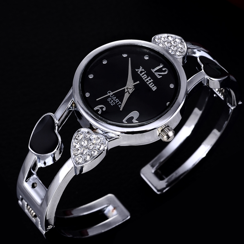 Heart Shaped Bracelet Watch Women Watches Luxury Rhinestone Women's Watches Ladies Watch Steel Clock Zegarek Damski Reloj Mujer