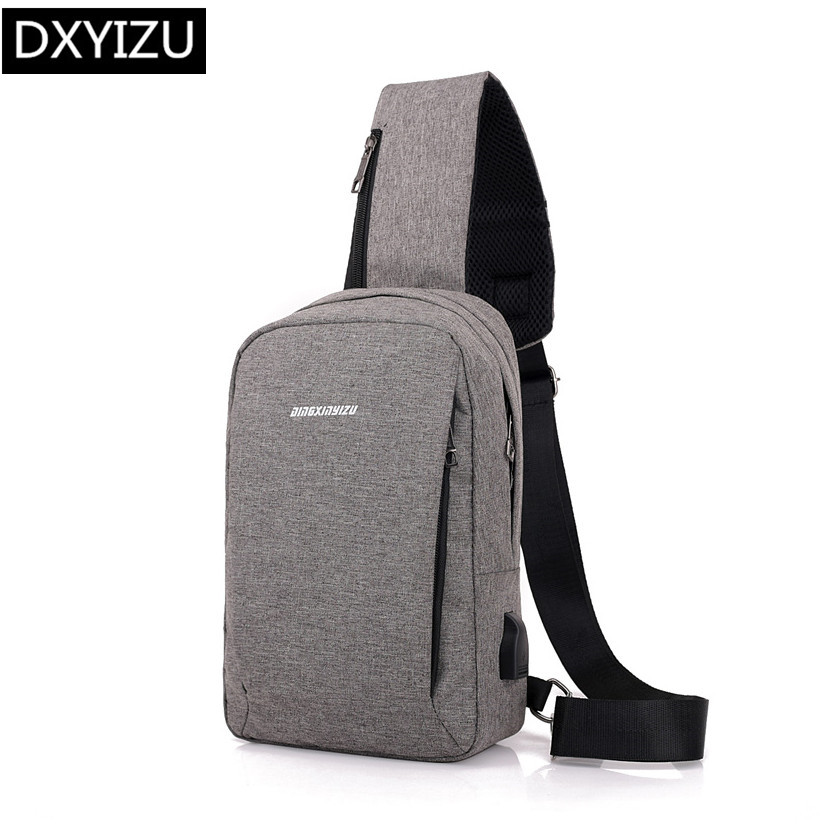 401aba11a92c US $9.89 67% OFF|DINGXINYIZU male mini cross body bags boys small one  shoulder chest bag usb charge sling travel bag pack men messenger bags-in  ...