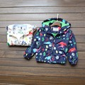 Autumn Baby Child Clothing Coat Jacket Wind Proof Double Deck Outwear Print Floral Pattern Coat Boy Child Baby Jacket